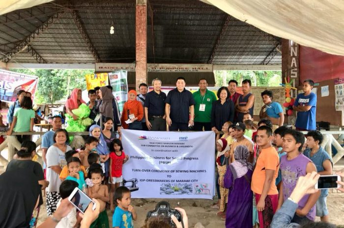 DTI AND PBSP DISTRUBUTE SEWING MACHINES TO IDPs OF MARAWI