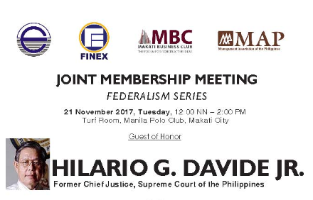BFBCI to Attend Joint Membership Meeting on Federalism Series