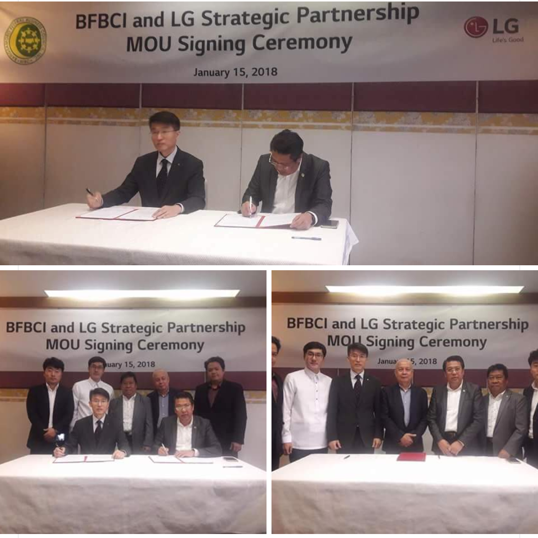 BFBCI and LG Electronics Ink Strategic Partnership