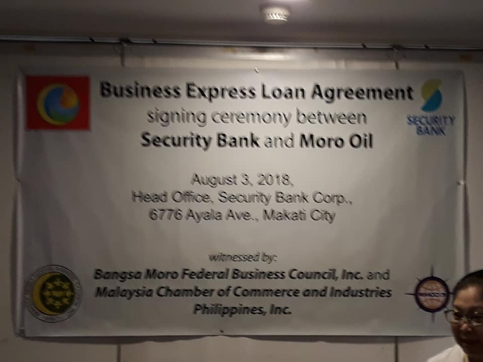 Security Bank extends loan to Moro Oil | BFBCI